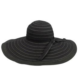 HAT-WIDE BRIM RIBBON BLACK