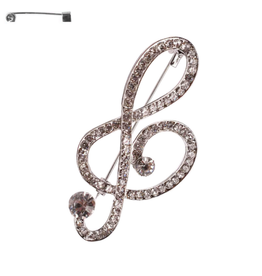 PIN-MUSICAL NOTE SILVER