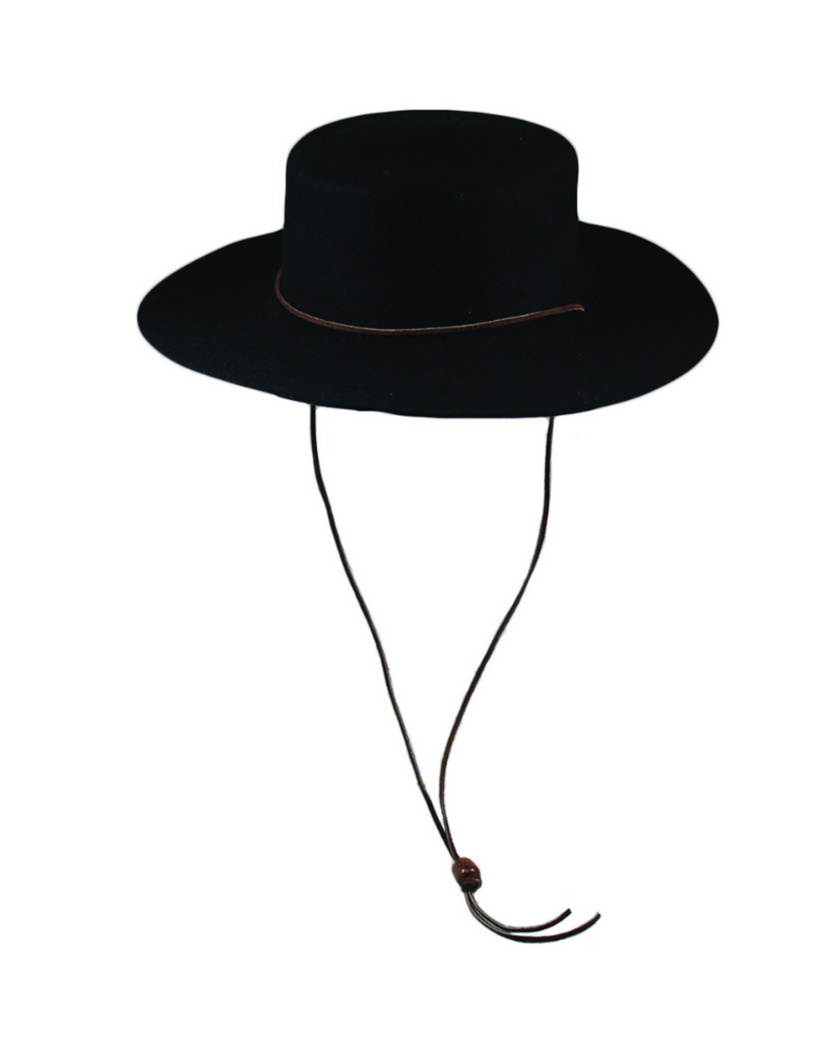 HAT-WIDE BRIM BOLERO W/STRAP