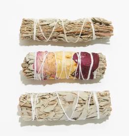 Faire/Liv Rocks SMUDGE-WHITE SAGE WITH ROSE PETALS