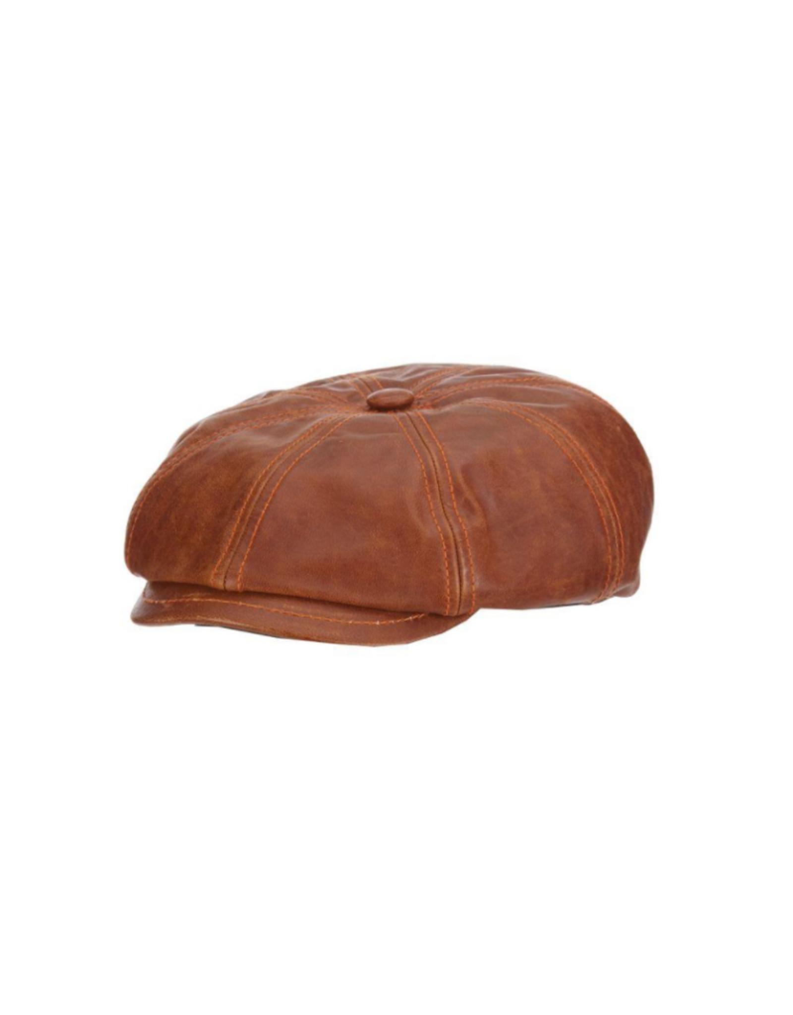 HAT-8 PANEL-HARPER-LEATHER