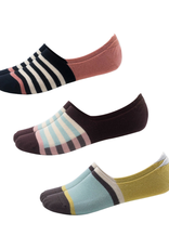 SOCKS-NO SHOW-CASUAL ATHLETIC STRIPED NO SHOW, 3 PACK