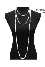 """NECKLACE-PEARL 96"""" 12MM ENDLESS"""