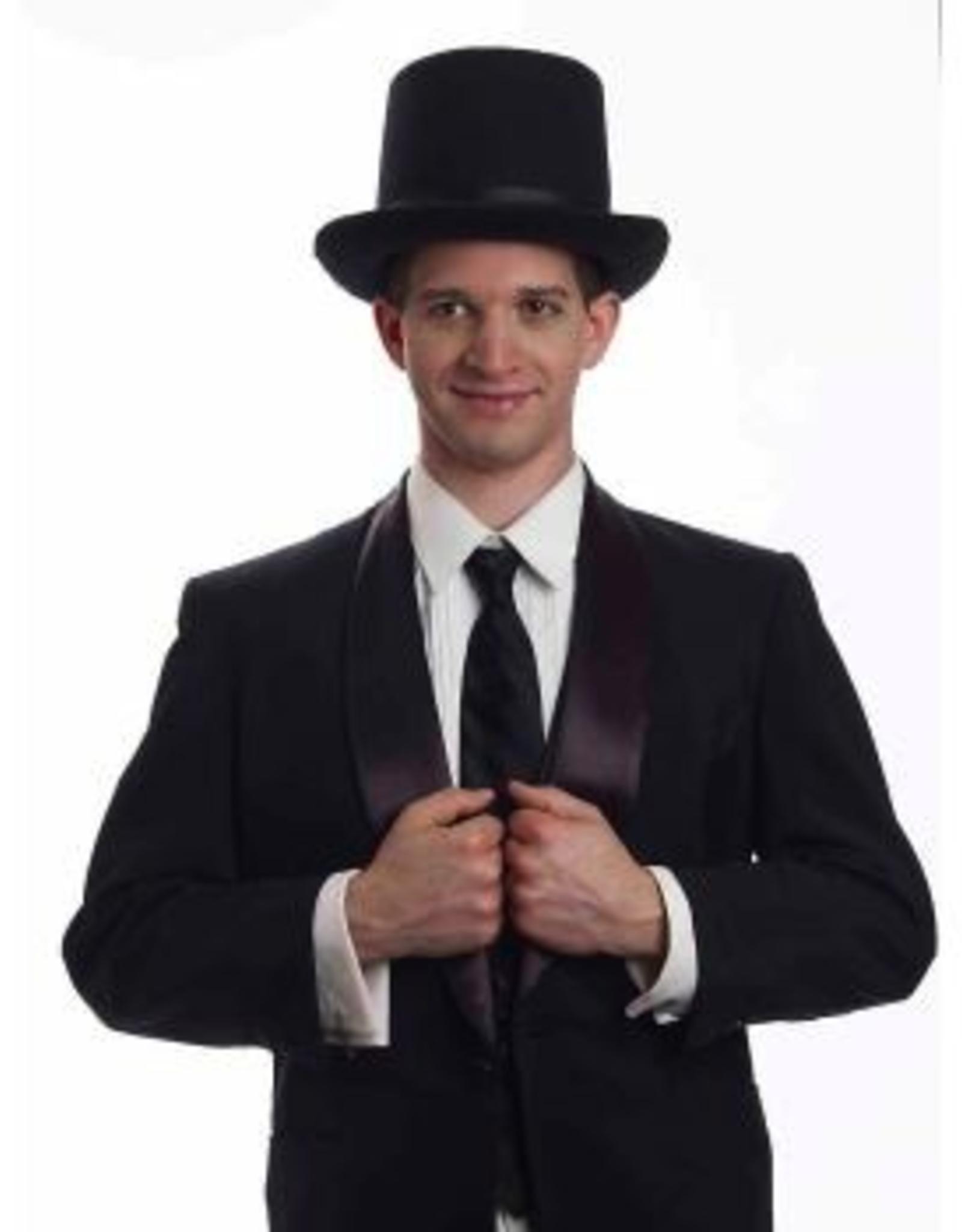 HAT-TOP HAT-PRESIDENT'S SUPER DELUXE, BLACK