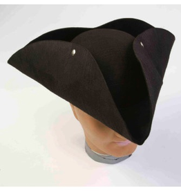 HAT-PIRATE-DELUXE MOLDED TRICORN, BLACK