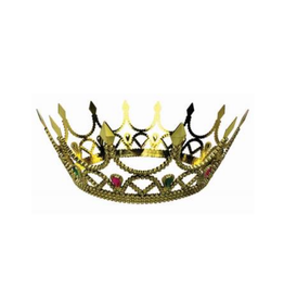 CROWN-GOLD PLASTIC, WITH ELASTIC BAND