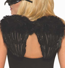 WINGS-RAVEN, FEATHERS BLACK