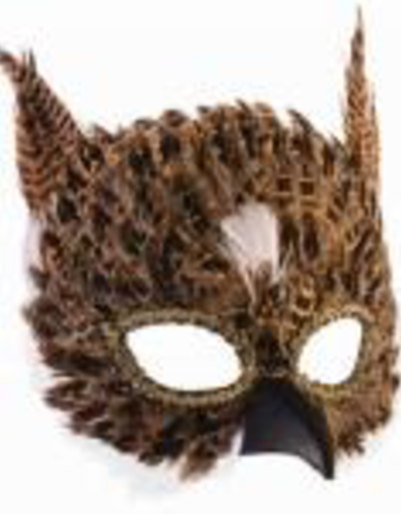 MASK-BIRD, EXOTIC FEATHER, BROWN