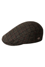 """Bailey Hat Co. HAT-FLATCAP """"MAHLER"""" PLAID"""