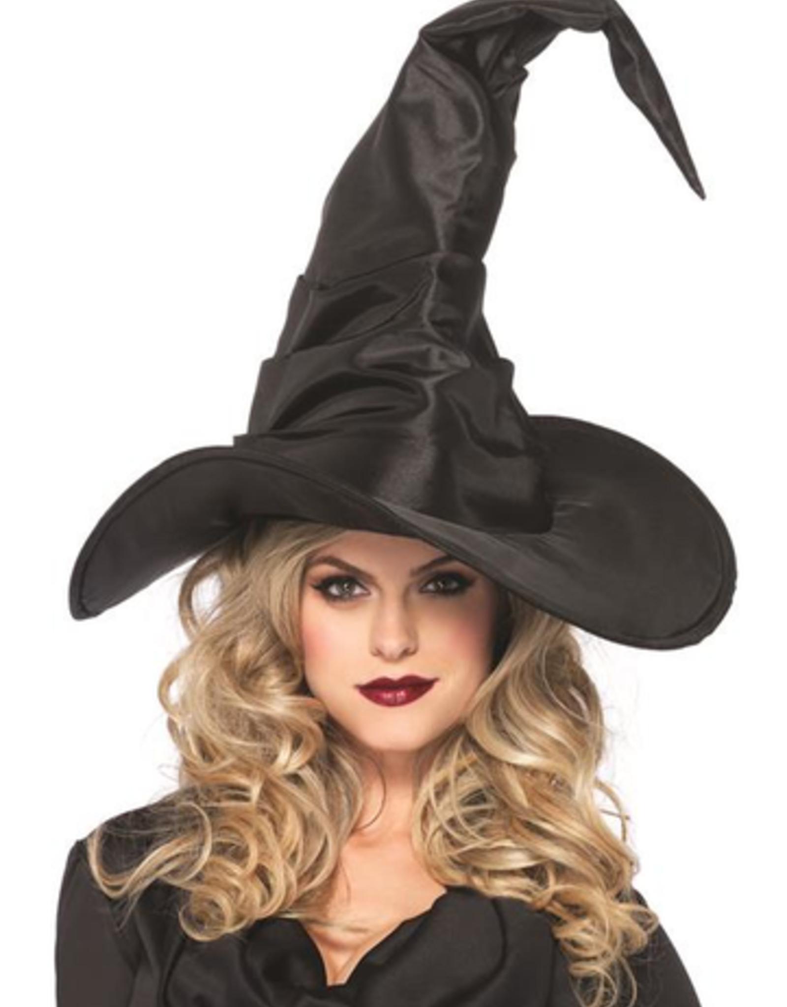 HAT-WITCH, RUCHED  BLACK