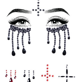 BODY JEWELRY-EYES-POSSESSED BLK/RED