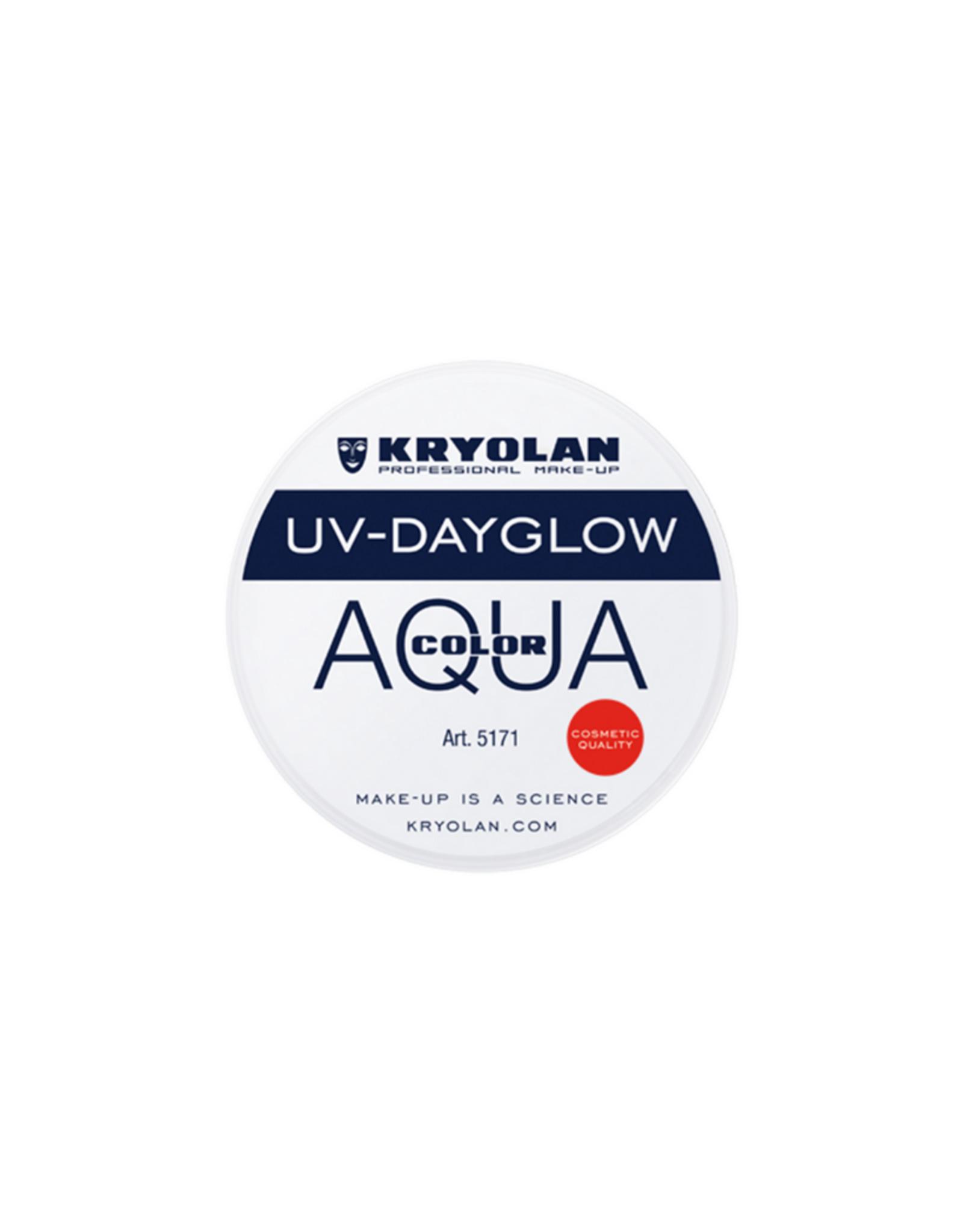 Kryolan AQUACOLOR-UV DAYGLOW, WHITE