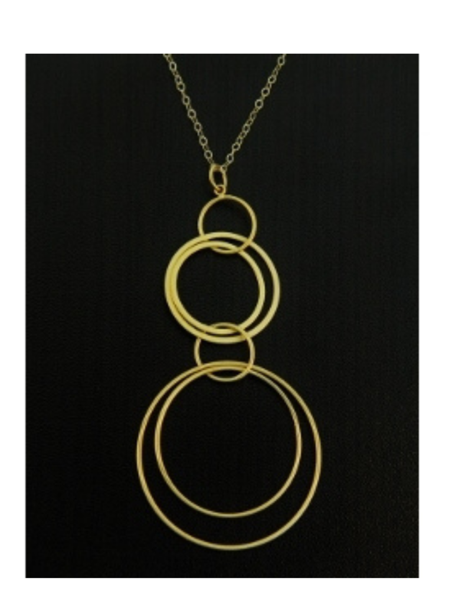 Faire/Sosie Designs NECKLACE-LARGE HOOPS GOLD