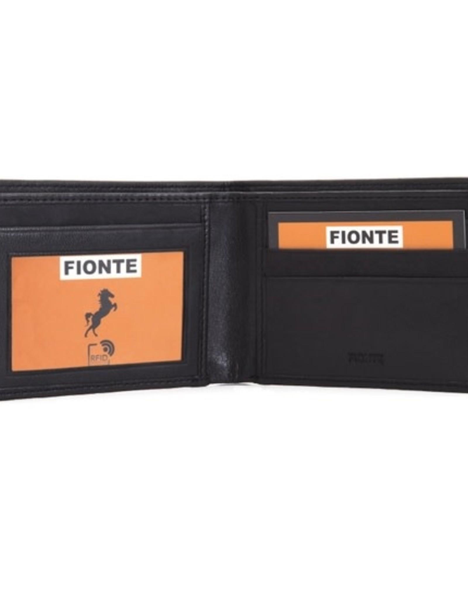 Faire/Fionti WALLET-LEATHER RFID 2 FOLD W/WINDOW BLK