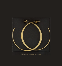 EARRINGS-GOLD DIPPED HOOPS THICK/THIN