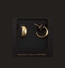 EARRINGS-GOLD DIPPED DOME, SM
