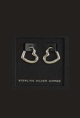 EARRINGS-GOLD DIPPED SM HEARTS