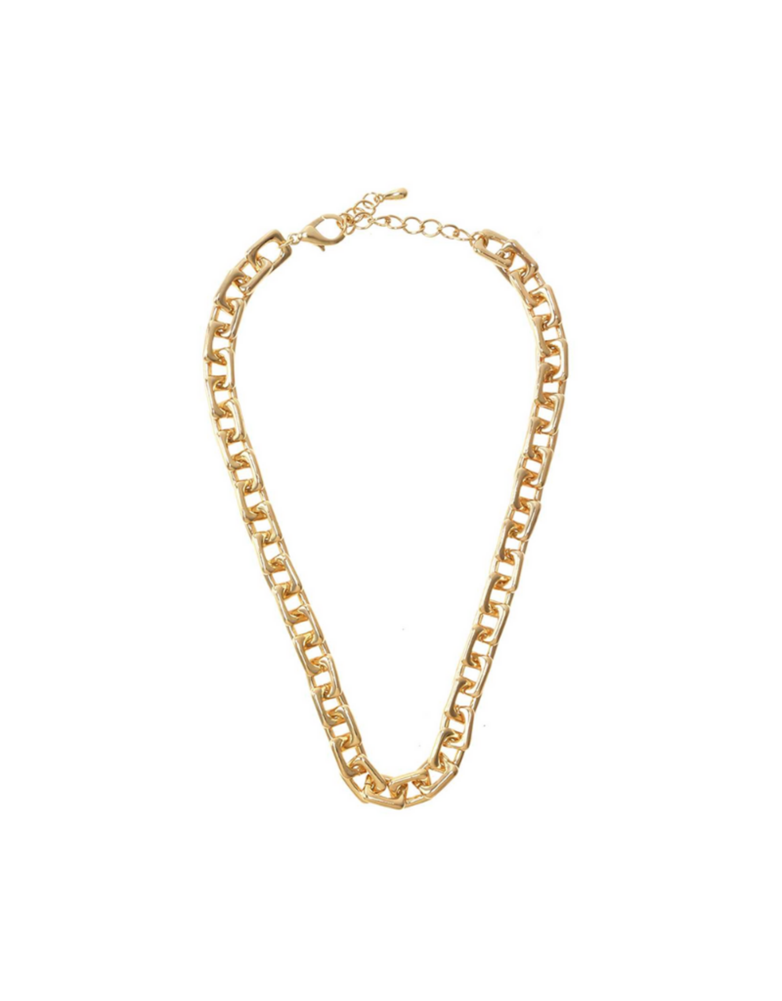 NECKLACE-SQUARE CHAIN LINKED