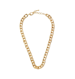 NECKLACE-CHAIN LINKED SQUARE