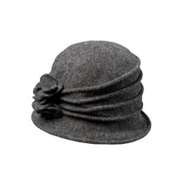 "HAT-CLOCHE ""GRACE"" RUCHED W/ ROSSETTE"