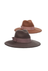 """HAT-WIDE BRIM  """"FAIRVIEW""""  W/WIDE ROSE BAND, O/S"""