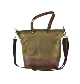 BAG-TOTE, CANVAS,  OLIVE