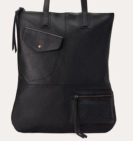 BAG-FOLD N TOTE, BLACK