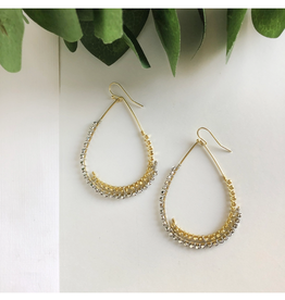 Faire/WorldFinds EARRINGS-OVERLAPPING TEARDROPS