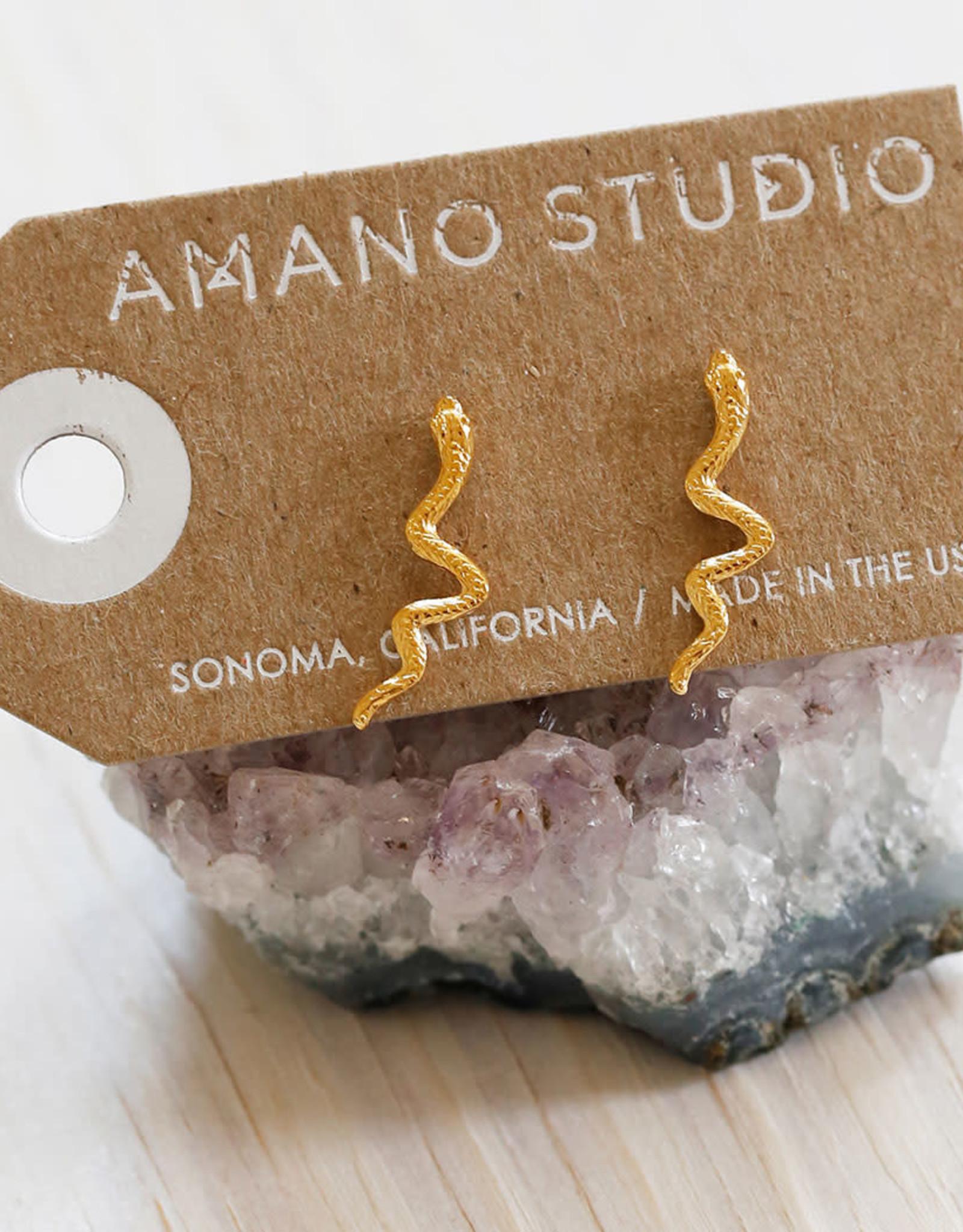 Faire/Amano Studio EARRINGS-SERPENT STUDS