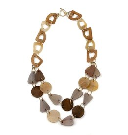 Faire/Anju Jewelry NECKLACE-OMALA TRIANGLES/DISCS