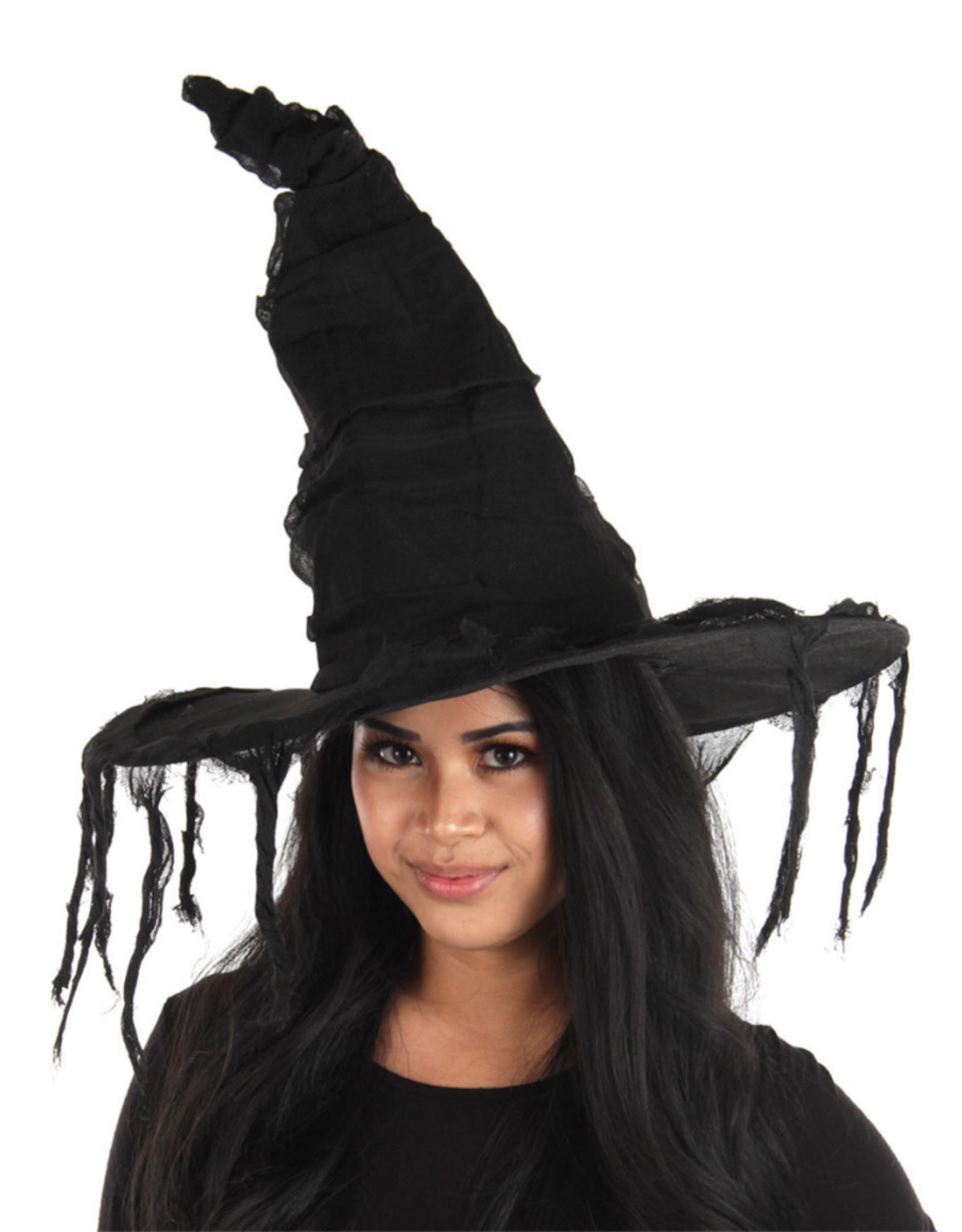 HAT-WITCH-GRUNGE, BLACK