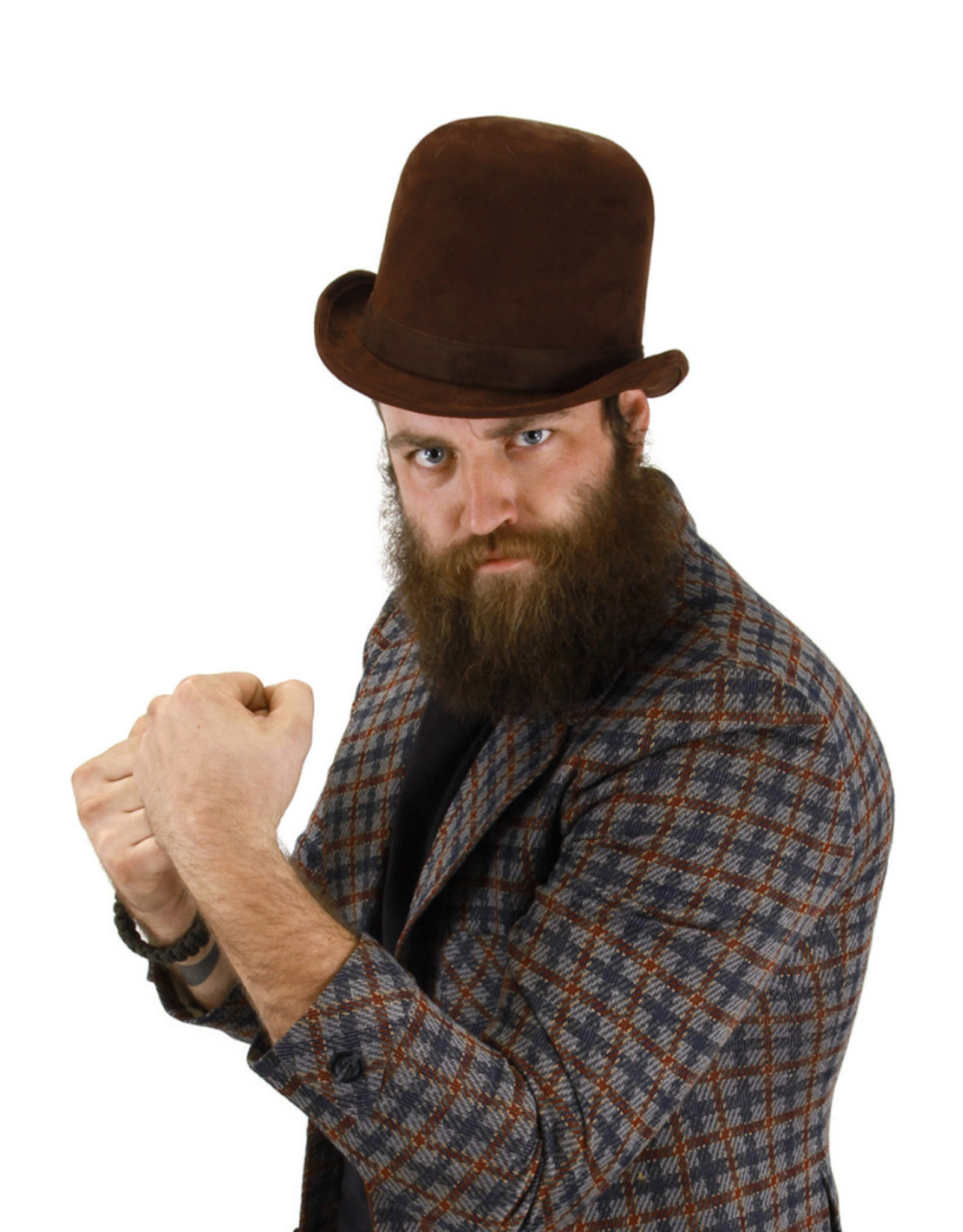 HAT-DERBY, BROWN