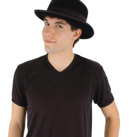 HAT-BOWLER, BLACK *SHINY*
