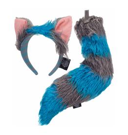 ANIMAL SET-CHESHIRE CAT GREY/BLUE