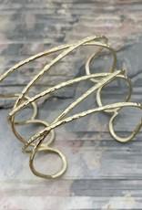 Faire/Anju Jewelry BRACELET-CUFF PLATED WIDE