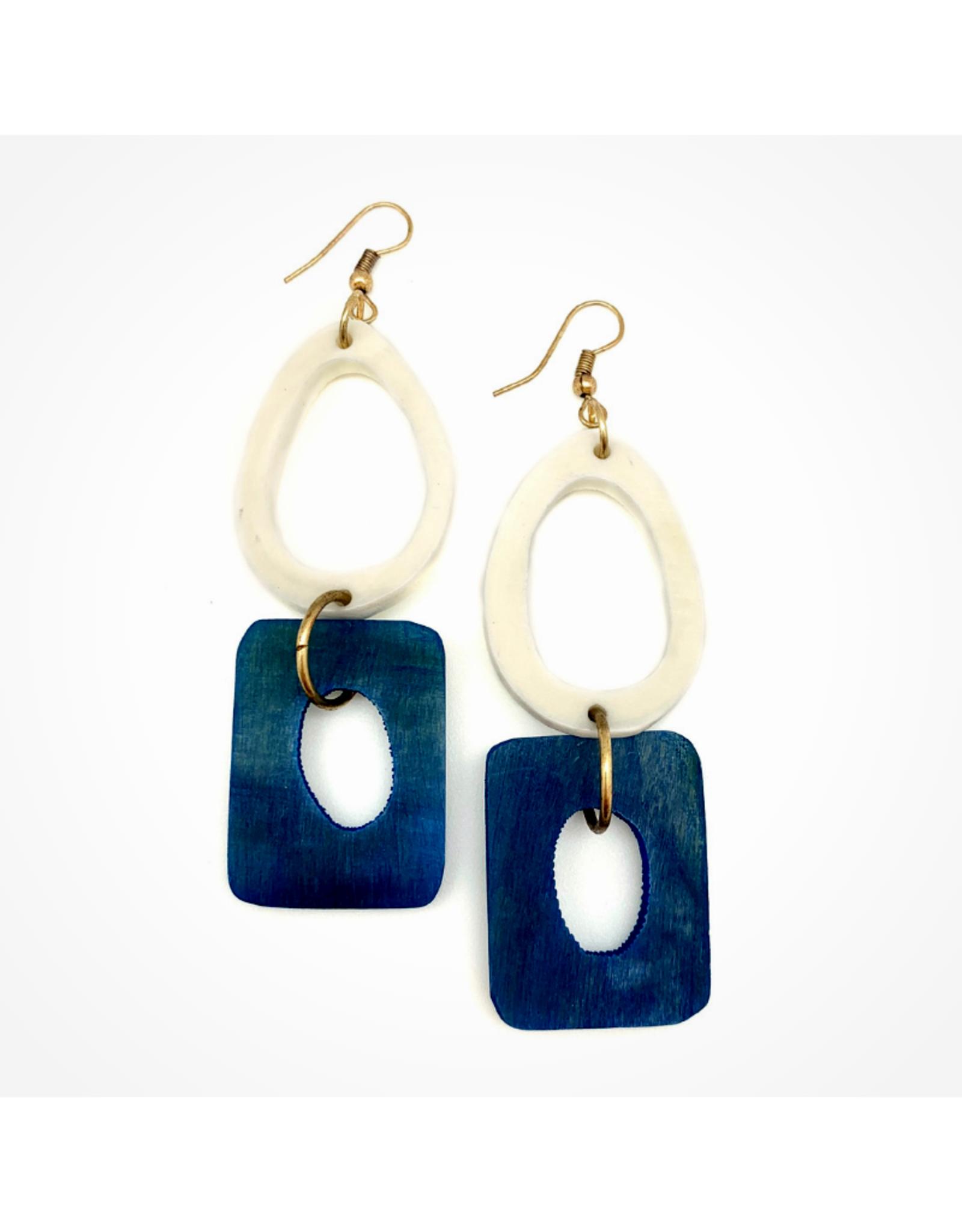 Faire/Anju Jewelry EARRINGS-OMALA AZURE COAST