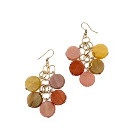 Faire/Anju Jewelry EARRINGS-OMALA CITRUS BEADED CLUSTER