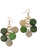 Faire/Anju Jewelry EARRINGS-OMALA VERDANT BEADED CLUSTER