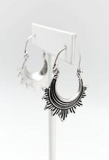 Faire/Anju Jewelry EARRINGS-TANVI DROP  STRIPED RAYS SLVR