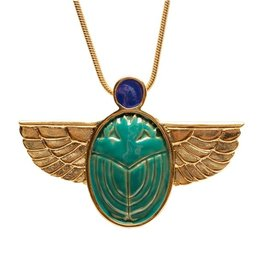 Faire/Museum Reproductions NECKLACE-TIFFANY SCARAB