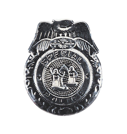 BADGE-SPECIAL POLICE, SILVER
