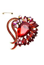 PIN-RHINESTONE HEART