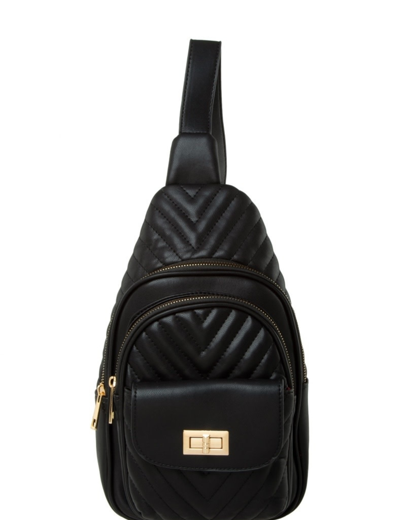 BACKPACK-CHEVRON QUILTED