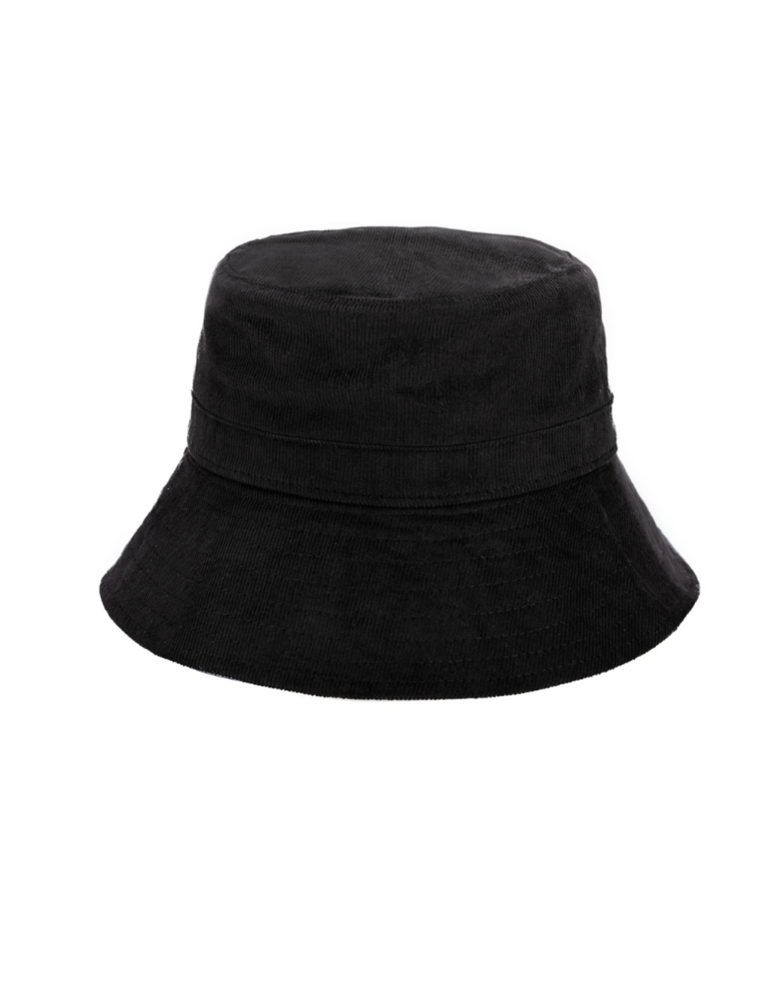 HAT-BUCKET-MAIN STREET- CORDUROY BLACK