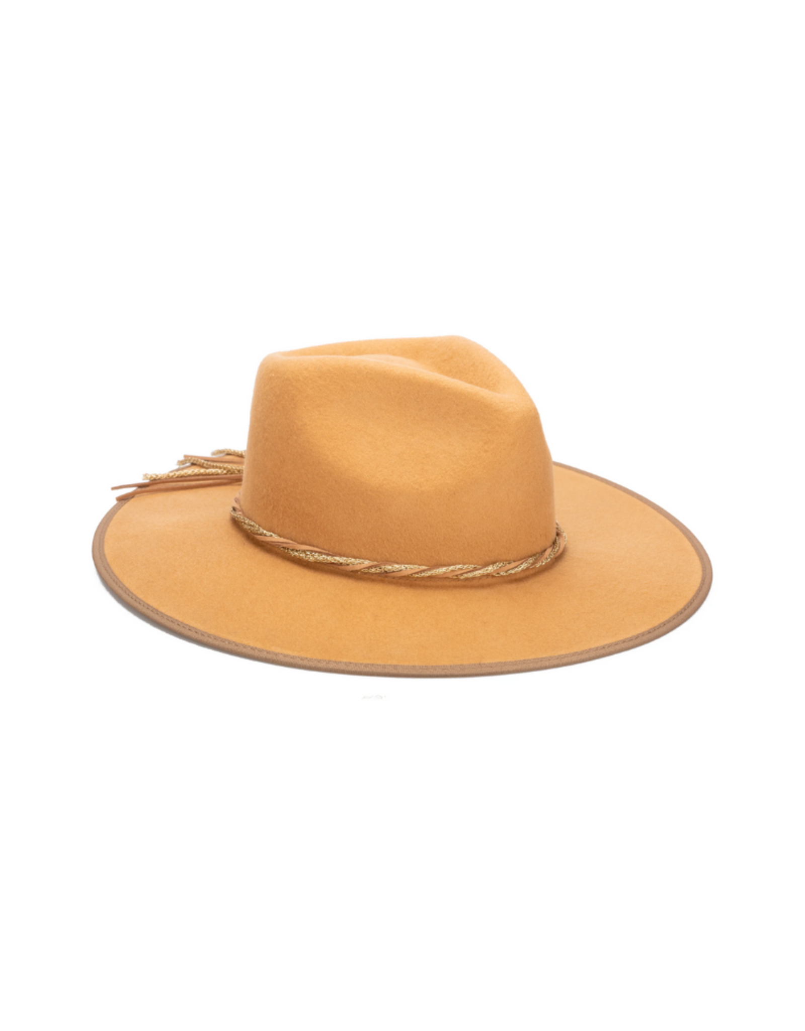 HAT-WIDE BRIM-GOLD RUSH-TWISTED BAND CAMEL