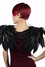 WINGS-FEATHER-GOTHIC CROW, BLACK