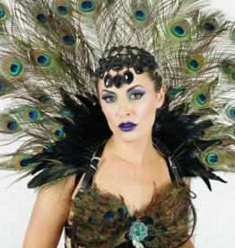 COLLAR-FEATHER-MAJESTIC PEACOCK