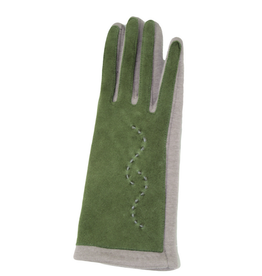 GLOVES-FASHION W/STITCHING ON SOLID TOP