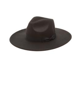 HAT-WIDE BRIM FEDORA
