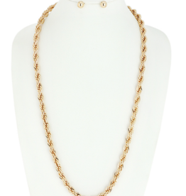 NECKLACE-CHAIN TWISTED GLD